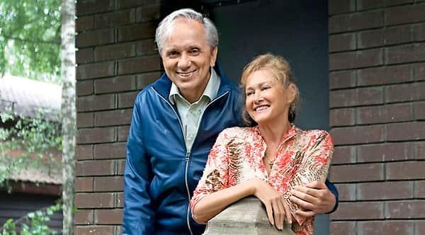 Евгений Стеблов с женой