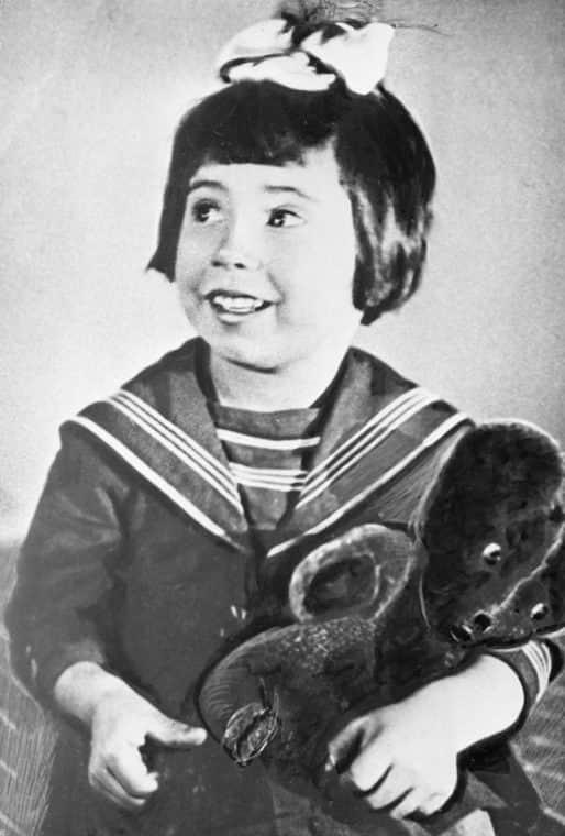 Татьяна Самойлова в детстве