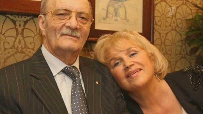 Георгий Данелия с женой