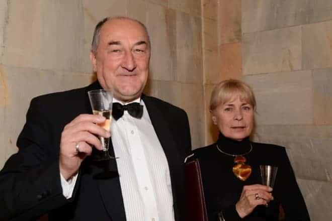 Борис Клюев с женой