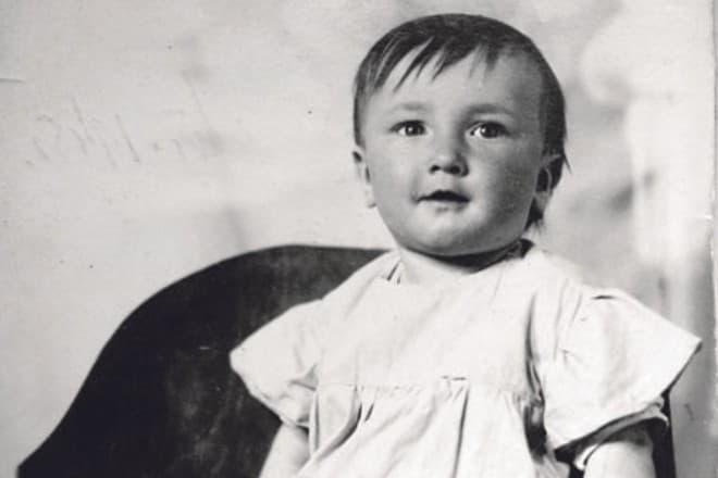Борис Клюев в детстве