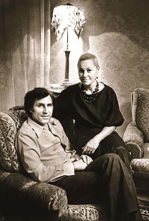 Татьяна Конюхова с мужем