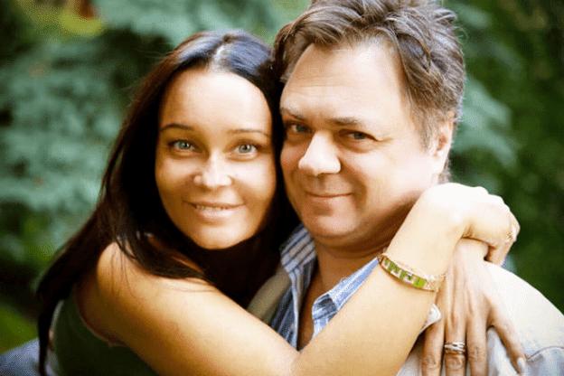 Андрей Леонов с женой
