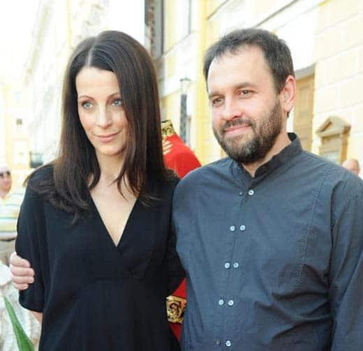Евгения Крюкова с мужем