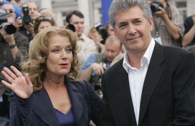 Ирина Алферова с мужем