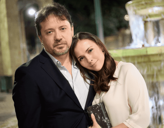 Елена Панова с мужем