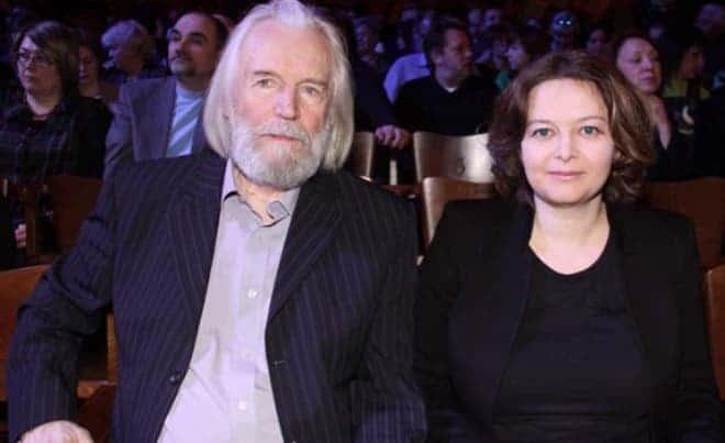 Станислав Любшин с женой