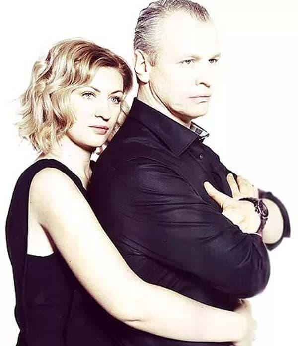 Сергей Юшкевич с женой Еленой Рашевской