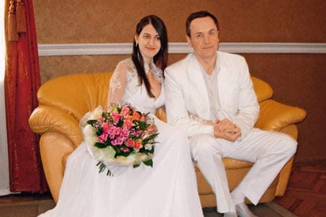 Андрей Соколов с женой