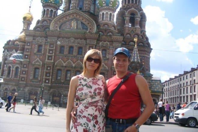Алексей Моисеев с женой