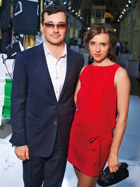 Ксения Алферова с мужем