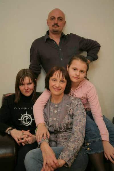 Светлана Рожкова с семьей