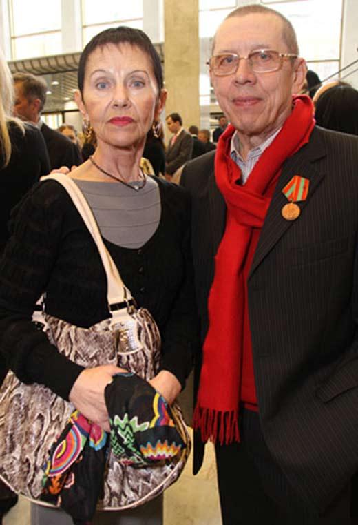 Валерий Золотухин с женой