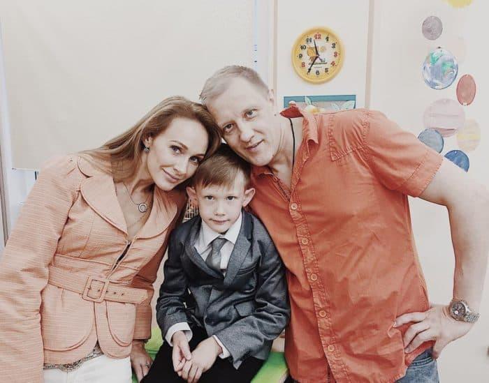 Сергей Горобченко с женой и сыном