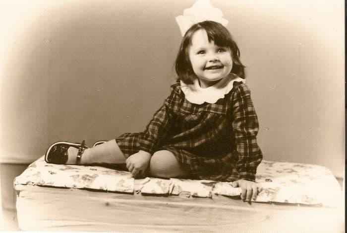 Наталия Антонова в детстве