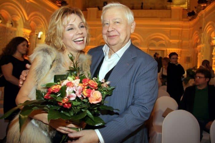 Марина Зудина с мужем Олегом Табаковым