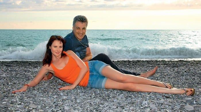 Ольга Погодина с мужем