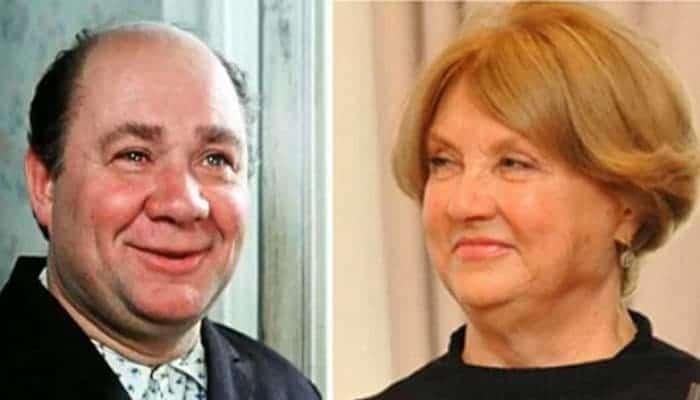 Евгений Леонов и его жена
