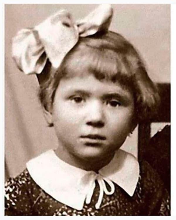 Галина Польских в детстве