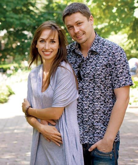 Денис Рожков с женой