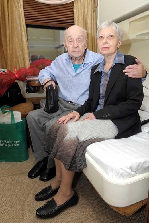 Леонид Броневой с женой