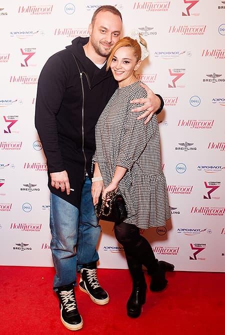 Максим Щеголев с женой