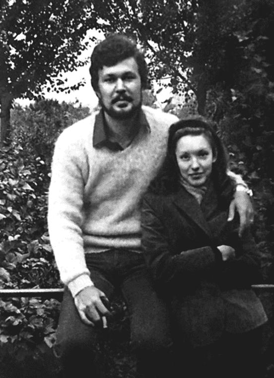 Анна Самохина с мужем Александром Самохиным