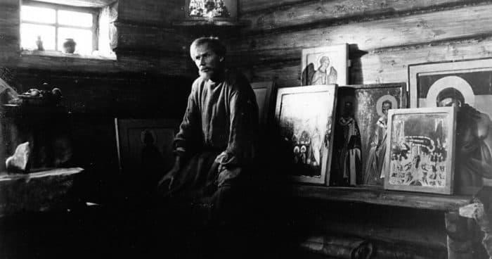 "Кадр из фильма Тарковского ""Андрей Рублев"""