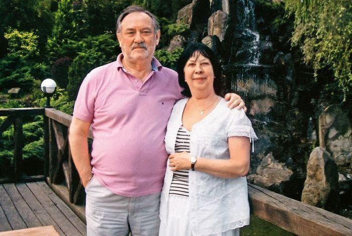 Богдан Ступка с женой Ларисой Ступкиной