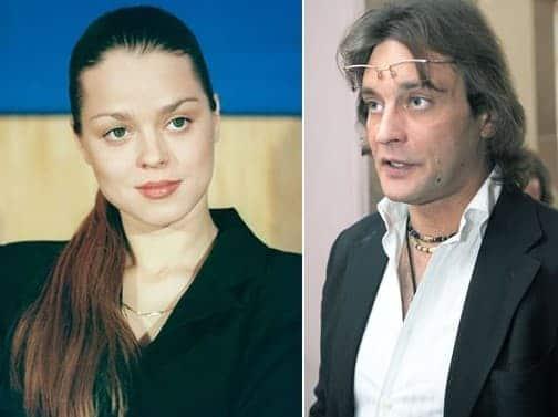 Александр Домогаров и его первая жена Наталье Сагоян