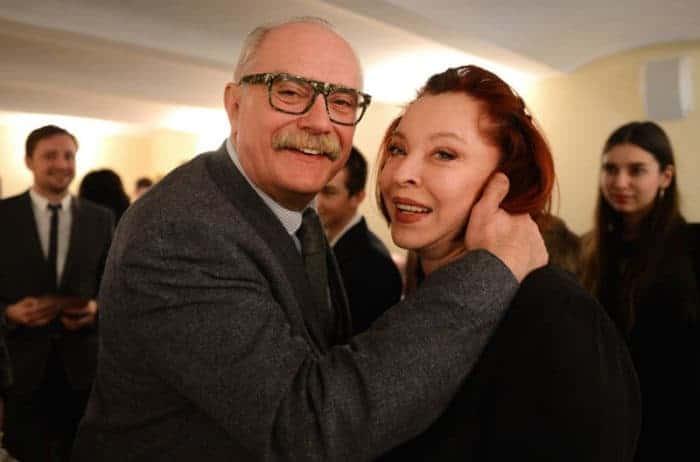 Никита Михалков и его первая жена Анастасия Вертинская