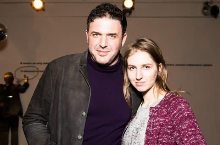 Максим Виторган с первой женой Викторией Верберг