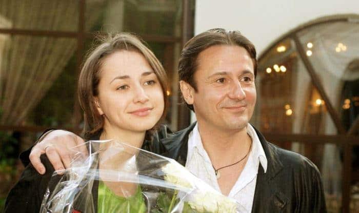 Олег Меньшиков и его жена Анастасия Чернова