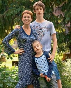 Жанна Эппле с сыновьями