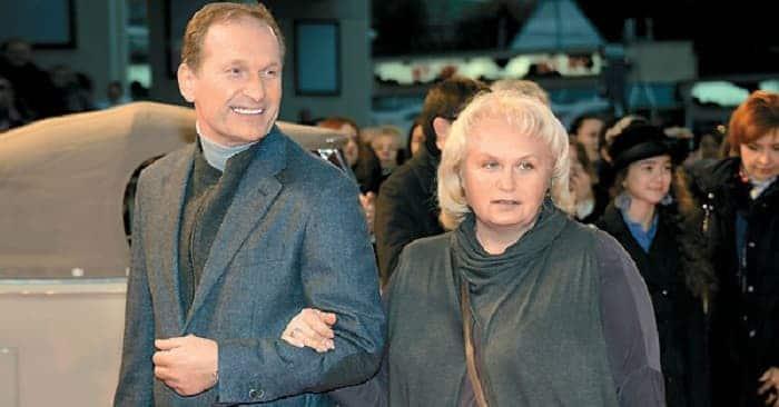 Федор Добронравов с женой