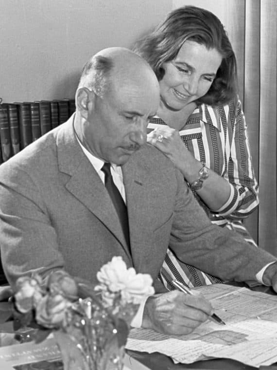 Сергей Герасимов и его жена Тамара Макарова