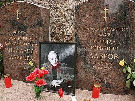 Могила Кирилла Лаврова