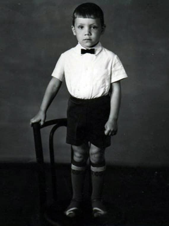 Олег Чернов в детстве