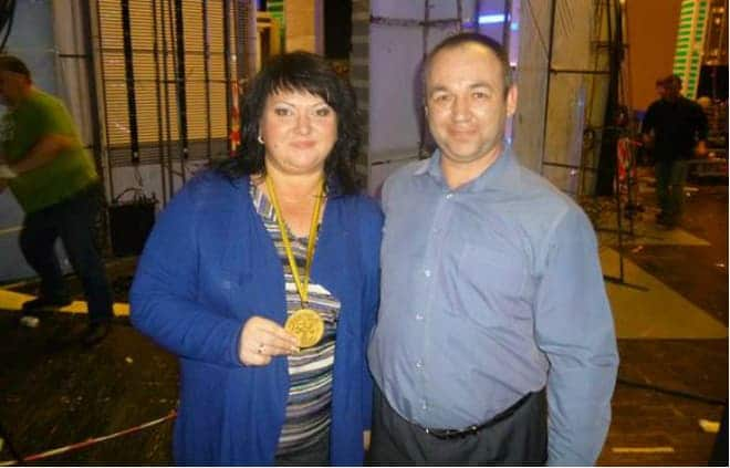 Ольга Картункова с мужем Виталием Картунковым