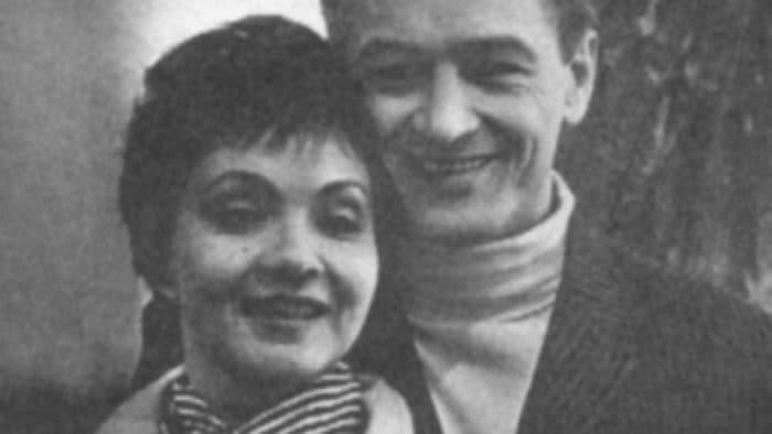 Молодые Михаил Ножкин и Лариса Голубина