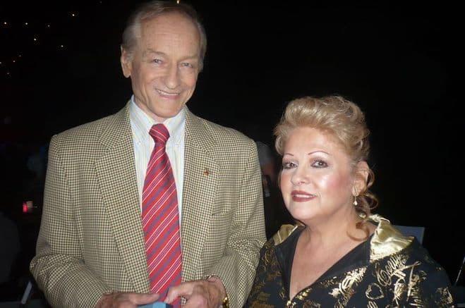 Михаил Ножкин с женой
