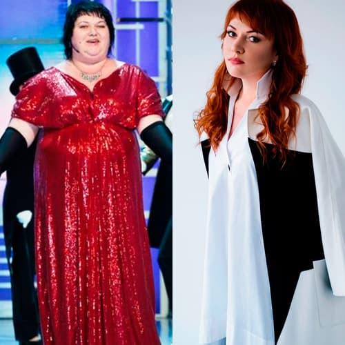 Ольга Картункова до и после похудания