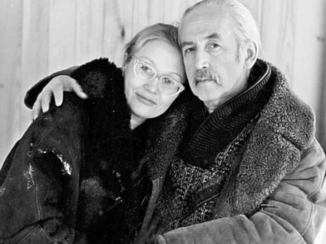Василий Ливанов с женой Еленой Ливановой