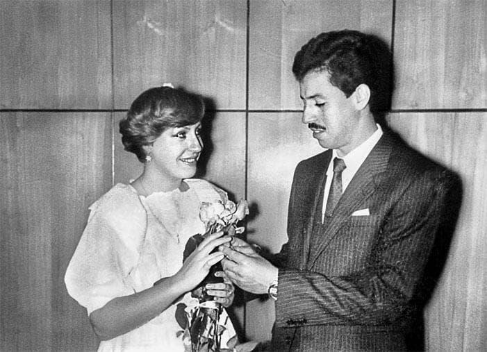 Марина Голуб и ее первый муж Евгений Тройнин