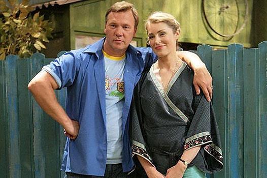 Мария Шукшина с мужем Алексеем Касаткиным
