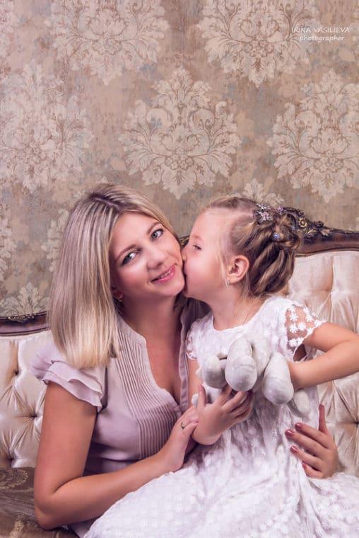 Ирина Таранник с дочерью