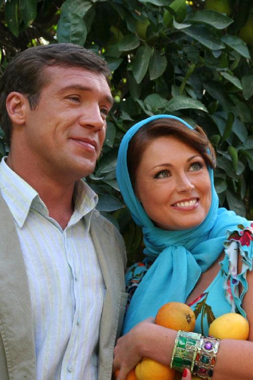 Олег Чернов с женой Мариной Блейк