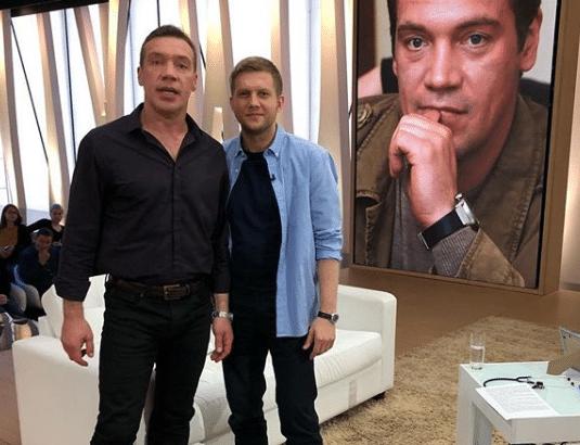 Олег Чернов с сыном Николаем