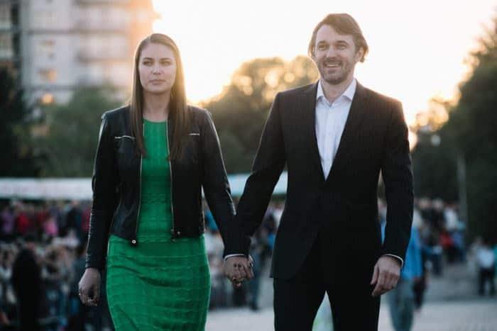 Юлия Мельникова с мужем Павлом Трубинером