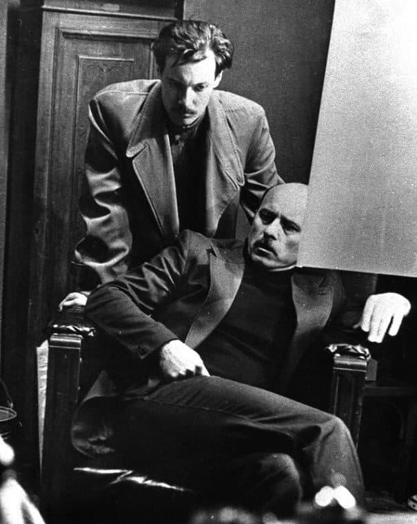 Станислав Говорухин и Высоцкий на съемках фильма «Место встречи изменить нельзя»